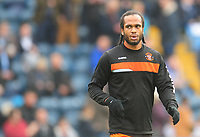 Blackpool's Nathan Delfouneso during the pre-match warm-up <br /> <br /> Photographer Kevin Barnes/CameraSport<br /> <br /> The EFL Sky Bet League Two - Wycombe Wanderers v Blackpool - Saturday 11th March 2017 - Adams Park - Wycombe<br /> <br /> World Copyright &copy; 2017 CameraSport. All rights reserved. 43 Linden Ave. Countesthorpe. Leicester. England. LE8 5PG - Tel: +44 (0) 116 277 4147 - admin@camerasport.com - www.camerasport.com