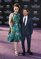 """HOLLYWOOD, CA - April 19: Clare Grant, Seth Green, At Premiere Of Disney And Marvel's """"Guardians Of The Galaxy Vol. 2"""" At The Dolby Theatre  In California on April 19, 2017. Credit: FS/MediaPunch"""