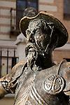 Don Quixote Monument outside Cervantes House, Alcala de Henares, Madrid, Spain