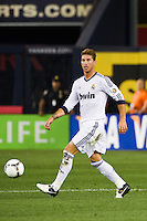 Sergio Ramos (4) of Real Madrid. Real Madrid defeated A. C. Milan 5-1 during a 2012 Herbalife World Football Challenge match at Yankee Stadium in New York, NY, on August 8, 2012.