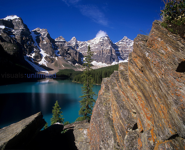 Wenkchemna Peaks and Moraine Lake, Banff National Park, Alberta, Canada.