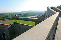 Grass and ledge at Bratislava Castle.
