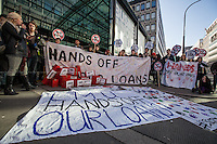"07.02.2014 - ""Protest and Debt In"" - Student Protest outside Department of Business, Innovation &.."