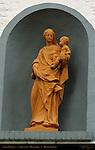 Street Madonna, Beguinage, Minnewater, Bruges, Brugge, Belgium