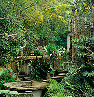 Las Pozas is made up of a surreal creation of concrete ruins and sculptures against a jungle setting