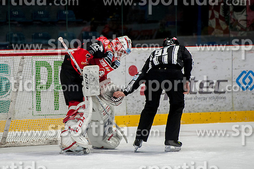 13.01.2017, Ice Rink, Znojmo, CZE, EBEL, HC Orli Znojmo vs EC KAC, 43. Runde, im Bild Patrik Nechvatal (HC Orli Znojmo)<br /> Marek Spacek (HC Orli Znojmo) // during the Erste Bank Icehockey League 43th round match between HC Orli Znojmo and EC KAC at the Ice Rink in Znojmo, Czech Republic on 2017/01/13. EXPA Pictures &copy; 2017, PhotoCredit: EXPA/ Rostislav Pfeffer