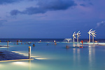 The Esplanade Lagoon at dusk.  Cairns, Queensland, Australia