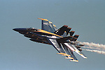Navy Blue Angles aerobatic flight demonstration squadron fly in tight formation, Blue Angels, Navy,  United States Navy's flight demonstration squadron, aerobatic flight demonstration team, squadron's six demonstration pilots, Blues,