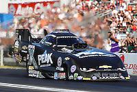 Nov 13, 2016; Pomona, CA, USA; NHRA funny car driver John Force during the Auto Club Finals at Auto Club Raceway at Pomona. Mandatory Credit: Mark J. Rebilas-USA TODAY Sports