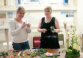 Taster demonstrations to encourage people to join classes were held during the opening of an exhibition of students' work, Adult Learning Centre, Guildford, Surrey.