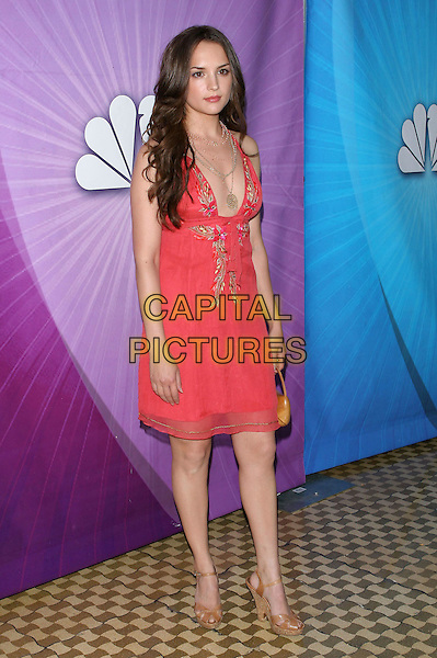 RACHEL LEIGH COOK.Las Vegas Cocktail Party held at The Beverly Hilton, Beverly Hills, CA..July 24th, 2005.Photo credit: Jacqui Wong/AdMedia.full length pink embroidered dress plunging neckline necklaces.www.capitalpictures.com.sales@capitalpictures.com.© Capital Pictures.