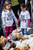 "22.10.2016 - ""Rally for Aleppo"" - Teddy Bears Protest at 10 Downing St."