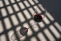 Red wine glass in the sun