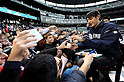 Hisashi Iwakuma (Mariners),.JANUARY 29, 2012 - MLB :.Seattle Mariners new signing pitcher Hisashi Iwakuma signs autographs for fans during the Seattle Mariners Fan Fest at Safeco Field in Seattle, Washington, United States. (Photo by AFLO)
