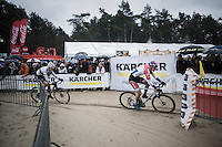 Wout Van Aert (BEL/Crelan-Willems) chasing Mathieu Van der Poel (NED/Beobank-Corendon) for the race lead<br /> <br /> elite men's race<br /> Krawatencross Lille 2017