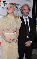 NEW YORK, NY-October 08:Elle Fanning, Mike Mills at NYFF54 Centerpiece Gala presents the World Premiere of 20th Century Women  at Alice Tully Hall in New York.October 08, 2016. Credit:RW/MediaPunch