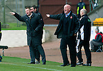 St Johnstone v Dundee Utd....21.04.12   SPL.Steve Lomas and Peter Houston.Picture by Graeme Hart..Copyright Perthshire Picture Agency.Tel: 01738 623350  Mobile: 07990 594431