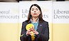 Tim Farron MP <br /> Leader of the LibDems addresses a public meeting on Brexit with Sarah Olney Liberal Democrat candidate in the Richmond Park by election at Christ Church, New Malden, Surrey, Great Britain <br /> 26th November 2016 <br /> <br /> Sarah Olney <br /> <br /> <br /> <br /> Photograph by Elliott Franks <br /> Image licensed to Elliott Franks Photography Services