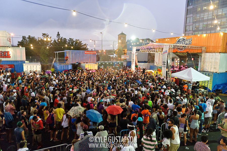 WASHINGTON, DC - August 11th, 2012 - The crowd swells despite the rain as Schoolboy Q performs at the inaugural Trillectro Festival at the Half Street Fairgrounds in Washington, D.C. (Photo by Kyle Gustafson/For The Washington Post)
