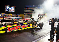 Sep 2, 2016; Clermont, IN, USA; NHRA top fuel driver J.R. Todd during qualifying for the US Nationals at Lucas Oil Raceway. Mandatory Credit: Mark J. Rebilas-USA TODAY Sports