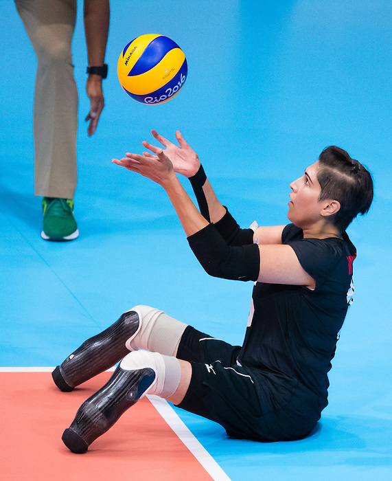 RIO DE JANEIRO - 11/09/2016 Canada competes against the Netherlands in the Women's Sitting Volleyball Preliminary at the Rio 2016 Paralympic Games at the Riocentro - Pavilion 6. (Photo by Angela Burger/Canadian Paralympic Committee)