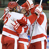 Ryan Ruikka (BU - 2), Cason Hohmann (BU - 7), Garrett Noonan (BU - 13) - The Boston University Terriers defeated the visiting Providence College Friars 4-2 (EN) on Saturday, December 13, 2012, at Agganis Arena in Boston, Massachusetts.