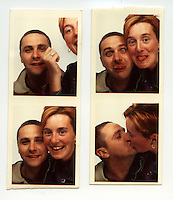 Photo booth photographs of Henry and his girlfriend while he was on the run living in the Republic of Ireland in the late 1990s..