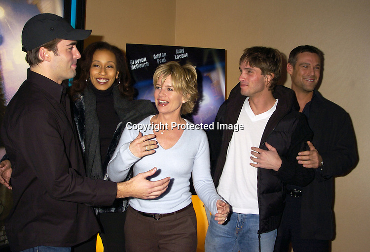 "Chris Beetem, Tamara Tunie, Mary Beth Evans and Agim Kaba and Grayson McCouch ..at a celebrity screening of ""G5"" a new movie starring..Grayson McCouch, Amy Locaine and Michelle Geisner on ..November 29, 2004 at the UA Battery Park City Stadium..Theatre. Photo by Robin Platzer, Twin Images"