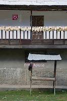 Maize drying on a balcony of a house near Marcapata next to the Interoceanic Highway
