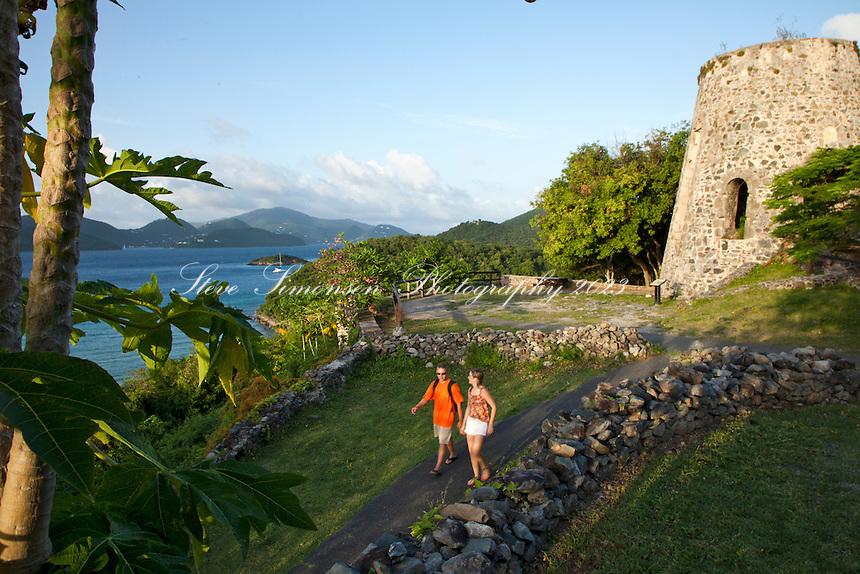 Annaberg Sugar Plantaion Ruins.Virgin Islands National Park.St. John.U.S. Virgin Islands