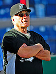 18 March 2009: Florida Marlins' Special Advisor Jack McKeon watches players take batting practice prior to a Spring Training game against the Washington Nationals at Space Coast Stadium in Viera, Florida. The Marlins defeated the Nationals 7-5 in the Grapefruit League matchup. Mandatory Photo Credit: Ed Wolfstein Photo