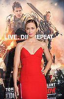 "NEW YORK CITY, NY, USA - MAY 28: Actress Emily Blunt arrives at the New York Premiere Of ""Edge Of Tomorrow"" held at AMC Loews Lincoln Square on May 28, 2014 in New York City, New York, United States. (Photo by Celebrity Monitor)"