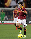 Calcio, Serie A: Roma vs Udinese. Roma, stadio Olimpico, 28 ottobre 2012..AS Roma defender Dodo', of Brazil, in action during the Italian Serie A football match between AS Roma and Udinese, at Rome, Olympic stadium, 28 October 2012..UPDATE IMAGES PRESS/Riccardo De Luca