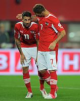 Fussball International  WM Qualifikation 2014   11.09.2012 Oesterreich - Deutschland Martin Harnik und Marko Arnautovic (v. li., Oesterreich)