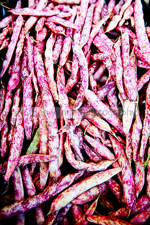 Colourful textures of Borlotti beans