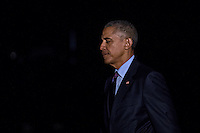 U.S. President Barack Obama walks on the South Lawn towards the White House after arriving on Marine One in Washington, D.C., U.S., on Tuesday, October 25, 2016. President Obama is returning from a campaign and fundraising trip to California. <br /> Credit: Andrew Harrer / Pool via CNP /MediaPunch