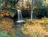 Scott Falls in Alger county in Michigan's Upper Peninsula during fall color.