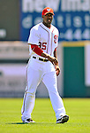 12 March 2011: Washington Nationals' outfielder Destin Hood warms up prior to a Spring Training game against the New York Yankees at Space Coast Stadium in Viera, Florida. The Nationals edged out the Yankees 6-5 in Grapefruit League action. Mandatory Credit: Ed Wolfstein Photo