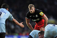 George Kruis of Saracens looks on. Aviva Premiership match, between Saracens and Worcester Warriors on November 28, 2015 at Twickenham Stadium in London, England. Photo by: Patrick Khachfe / JMP