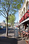 French cafe on a sunny morning, near Chatelet, 1st arrondissement, Paris, France, Europe