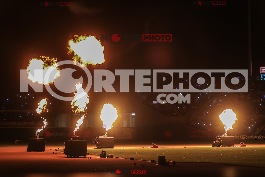 Fuegos Artificiales, durante el juego de Inauguracion del nuevo estadio de Yaquis de Ciudad Obregon, con el partido de beisbol ante Naranjeros de Hermosillo. Temporada 2016 2017 Liga Mexicana del Pacifico. <br /> &copy; Foto: LuisGutierrez/NORTEPHOTO.COM