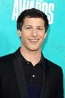 LOS ANGELES - JUN 3:  Andy Samberg arriving at the 2012 MTV Movie Awards at Gibson Ampitheater on June 3, 2012 in Los Angeles, CA