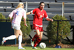 23 October 2011: Maryland's Ashley Grove (17) and Duke's Erin Koballa (14). The Duke University Blue Devils defeated the University of Maryland Terrapins 3-1 at Koskinen Stadium in Durham, North Carolina in an NCAA Division I Women's Soccer game.