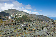 Mount Washington from the summit of Boott Spur Mountain in the White Mountains, New Hampshire USA during the summer months.