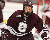 Kevin Lough (Colgate - 4) - The Harvard University Crimson defeated the Colgate University Raiders 4-1 (EN) on Friday, February 15, 2013, at the Bright Hockey Center in Cambridge, Massachusetts.