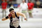 NAPERVILLE, IL - MARCH 11: Michelle Brandt of UW-Stout competes in the shot put during the Division III Men's and Women's Indoor Track and Field Championship held at the Res/Rec Center on the North Central College campus on March 11, 2017 in Naperville, Illinois. (Photo by Steve Woltmann/NCAA Photos via Getty Images)