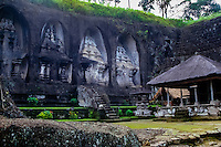 Bali, Gianyar, Gunung Kawi. An 11th century temple complex close to Tampaksiring. The western part of Gunung Kawi.