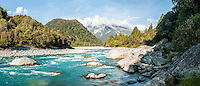 Scenic and wild Perth River, South Westland, West Coast, South Westland, New Zealand