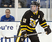 Nick Campanale (AIC - 12) - The University of Massachusetts Lowell River Hawks defeated the visiting American International College Yellow Jackets 6-1 on Tuesday, December 3, 2013, at Tsongas Arena in Lowell, Massachusetts.