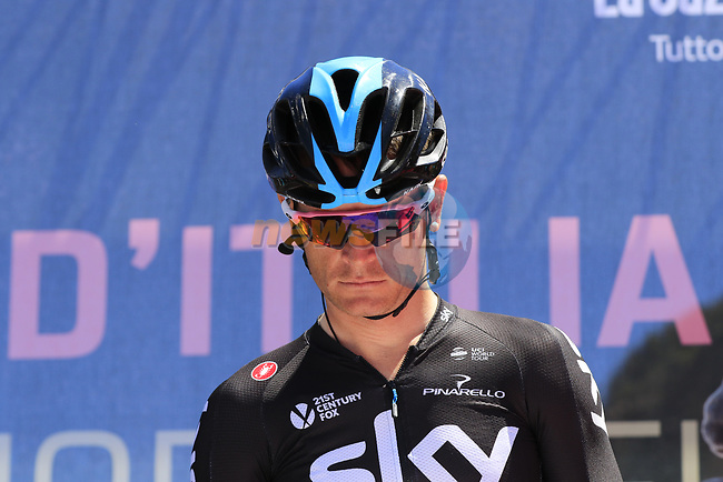 Vasil Kiryienka (BLR) Team Sky at sign on in Arbatax before the start of Stage 3 of the 100th edition of the Giro d'Italia 2017, running 148km from Tortoli to Cagliari, Sardinia, Italy. 7th May 2017.<br /> Picture: Eoin Clarke | Cyclefile<br /> <br /> <br /> All photos usage must carry mandatory copyright credit (&copy; Cyclefile | Eoin Clarke)
